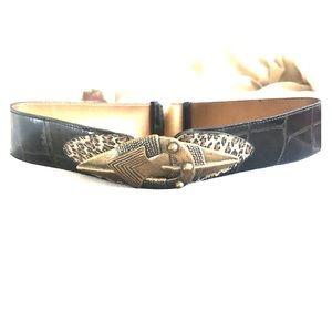 Vintage Leather Belt - adjustable